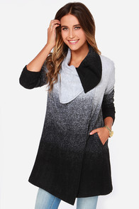 BB Dakota Danton Black and Grey Ombre Coat