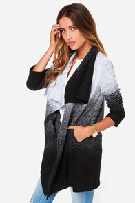 BB Dakota Danton Black and Grey Ombre Coat at Lulus.com!