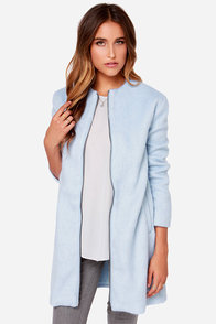 BB Dakota Liezel Sky Blue Coat at Lulus.com!