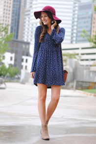 Lucy Love Emily Navy Blue Floral Print Dress at Lulus.com!