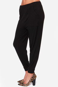 Obey Courson Black Harem Pants at Lulus.com!