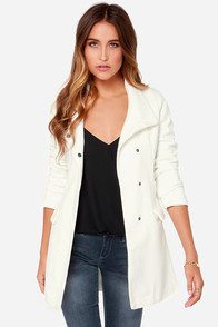 Jack By BB Dakota Cecil Ivory Coat