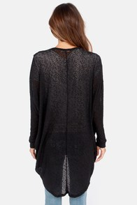 Bonne Draper Black Cardigan Sweater at Lulus.com!