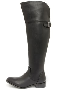 Rider 24 Black Over the Knee Boots