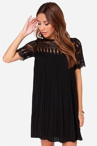Darling Olive Black Lace Shift Dress at Lulus.com!