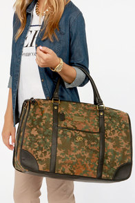 Obey Berlin Brown Print Duffle Bag at Lulus.com!