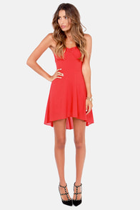 The Look of Love Strapless Red Dress at Lulus.com!