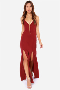 Miss Behave Wine Red Maxi Dress at Lulus.com!