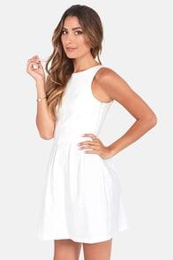 Classy Lass Ivory Dress at Lulus.com!
