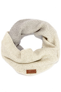 Billabong Hugs and Slopes Grey and Cream Infinity Scarf at Lulus.com!