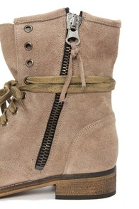 MTNG Hydra 54952 Wax Antique Silver Suede Lace-Up Ankle Boots at Lulus.com!