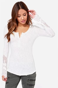 Black Swan Willow Ivory Long Sleeve Top at Lulus.com!