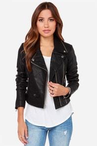 Obey Savages Black Leather Moto Jacket at Lulus.com!