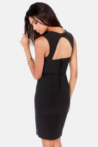 Visual Impact Black Dress at Lulus.com!