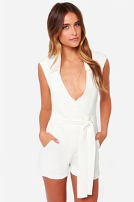 Strike and Match Ivory Romper at Lulus.com!