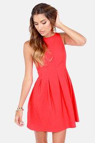 Classy Lass Red Dress