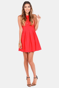 Classy Lass Red Dress at Lulus.com!