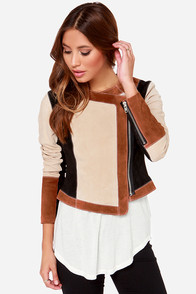 Chaser Collarless Suede Moto Jacket at Lulus.com!