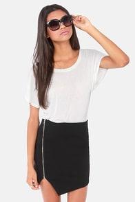 Zip Service Black Mini Skirt at Lulus.com!