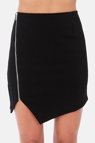 Zip Service Black Mini Skirt at Lulus.com!