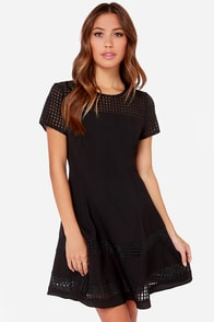 Square Me the Details Black Dress at Lulus.com!