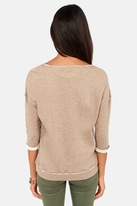 Gentle Fawn Renegade Beige Sweatshirt at Lulus.com!