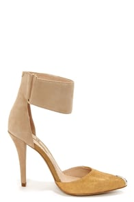 Mia Limited Edition Sydney Ivory Suede Ankle Strap Heels at Lulus.com!