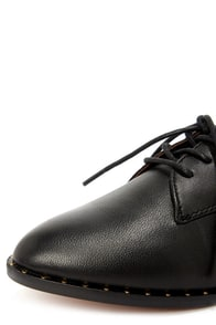 Report Signature Tahoe Black Leather Lace-Up Oxford Flats at Lulus.com!