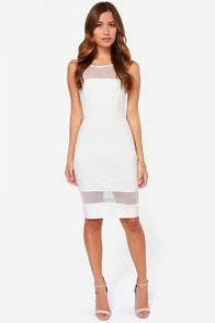 LULUS Exclusive Midi Slicker Ivory Midi Dress at Lulus.com!