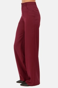 BB Dakota Giovanna Burgundy Wide-Leg Pants at Lulus.com!