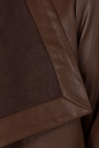 BB Dakota Jasper Brown Vegan Leather Jacket at Lulus.com!