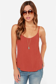 LULUS Exclusive Exciting News Burnt Orange Tank Top at Lulus.com!