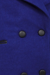Darling Jamie Royal Blue Coat at Lulus.com!