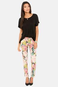 Mink Pink English Garden Floral Print Skinny Jeans at Lulus.com!