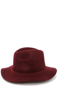 Rhythm The Pocket Burgundy Fedora Hat at Lulus.com!