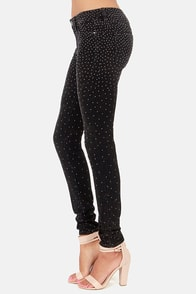 Blank NYC Spray On Instaglam Studded Black Skinny Jeans at Lulus.com!