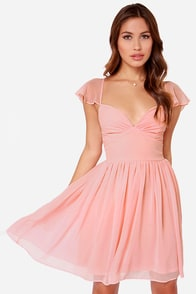 LULUS Exclusive Belle of the Ball Peach Dress at Lulus.com!