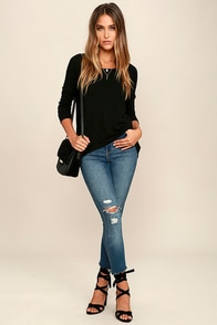 Zip to My Lou Black Sweater Top at Lulus.com!