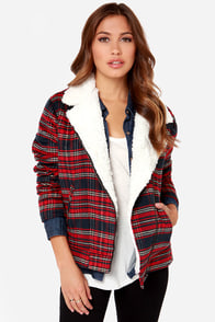 Others Follow Gavin Red Flannel Jacket at Lulus.com!