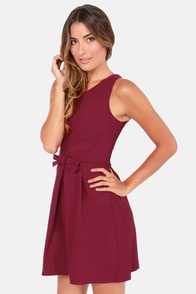 Hot Off the Precious Burgundy Dress at Lulus.com!