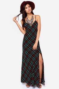 Lovers + Friends Maybe Tomorrow Plaid Maxi Dress at Lulus.com!