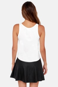 Lucy Love The Tie Ivory Tank Top at Lulus.com!