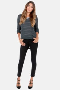 Enjoy the Ride Slate Blue Sweater at Lulus.com!
