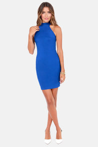 Va Va View Backless Blue Dress at Lulus.com!
