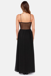 Underneath It All Cutout Black Maxi Dress at Lulus.com!