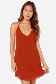 LULUS Exclusive Leisure Island Rust Red Slip Dress at Lulus.com!