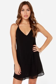LULUS Exclusive Leisure Island Black Slip Dress at Lulus.com!