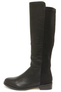 Very Volatile Bradford Black Knee High Boots at Lulus.com!