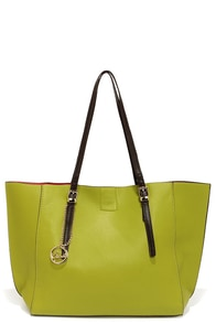 On the Bright Side Lime Green Tote at Lulus.com!