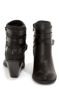 CL by Laundry Light Up Black Belted Ankle Boots at Lulus.com!